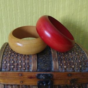 Two wooden Bangles